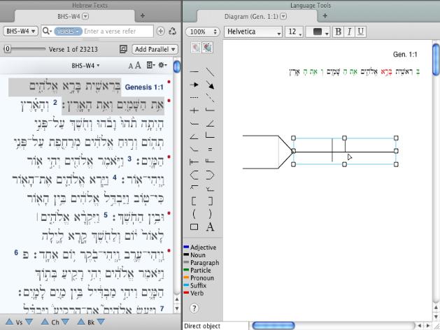 diagram sentence structurean example of a diagram tab for genesis   is shown below