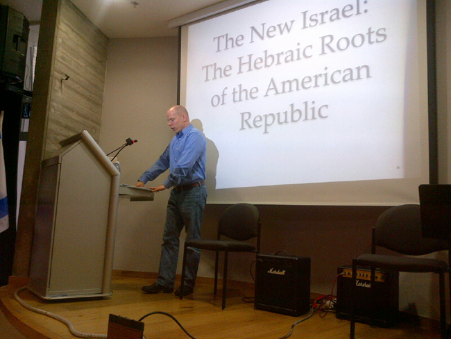 "Dr. Eran Shalev: ""The New Israel"": the Hebraic Roots of the American Republic."